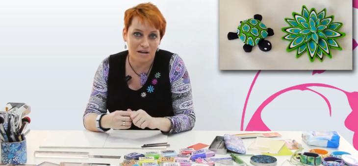 Květinová louka z polymerové hmoty FIMO – Monika Brýdová