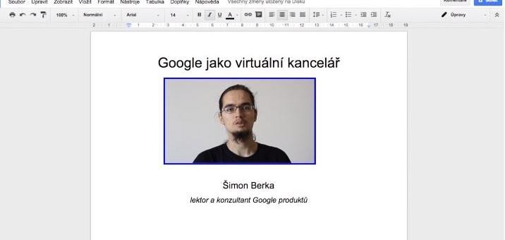 Kancelářský software na Google – Šimon Berka