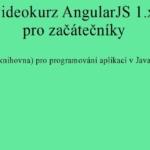 Magická knihovna Angular – Pavel Kříž