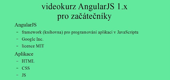 Angular pro začátečníky