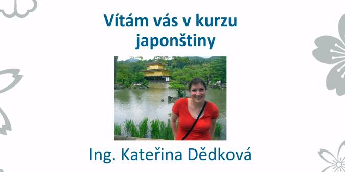 Jak na japonštinu – Kateřina Dědková